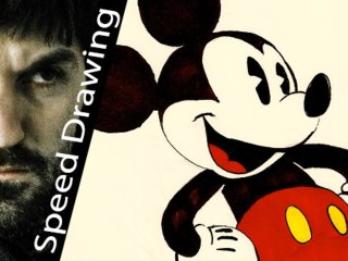 Epic! Mickey Mouse SPEED DRAWING! Tribute to the best Disney' character!