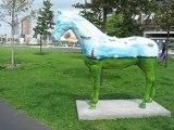 Rotterdam, Pays Bas : art urbain et gratte ciel