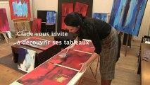 Interview de l'artiste Clade, art abstrait, en exposition chez Carré d'artistes L'Expo à Paris 6ème