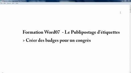 Crer Des Badges En Srie Via La Fonction De Publipostage Word 2007 Pierofr