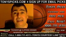 LA Clippers versus Oklahoma City Thunder Pick Prediction NBA Pro Basketball Odds Preview 1-22-2013