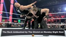 The Rock Injured by The Shield on Raw
