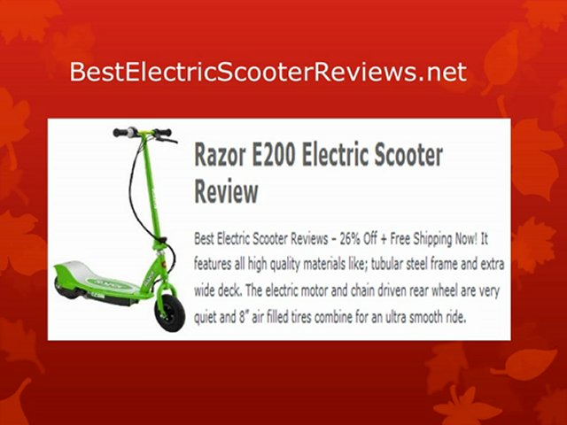 Electric Scooter Reviews – Top 10 Electric Scooters