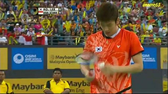 MAYBANK Malaysia Open 2013 ~ MDF ~ Ahsan/Setiawan[INA] vs Ko/Lee[KOR] ~ Part 1
