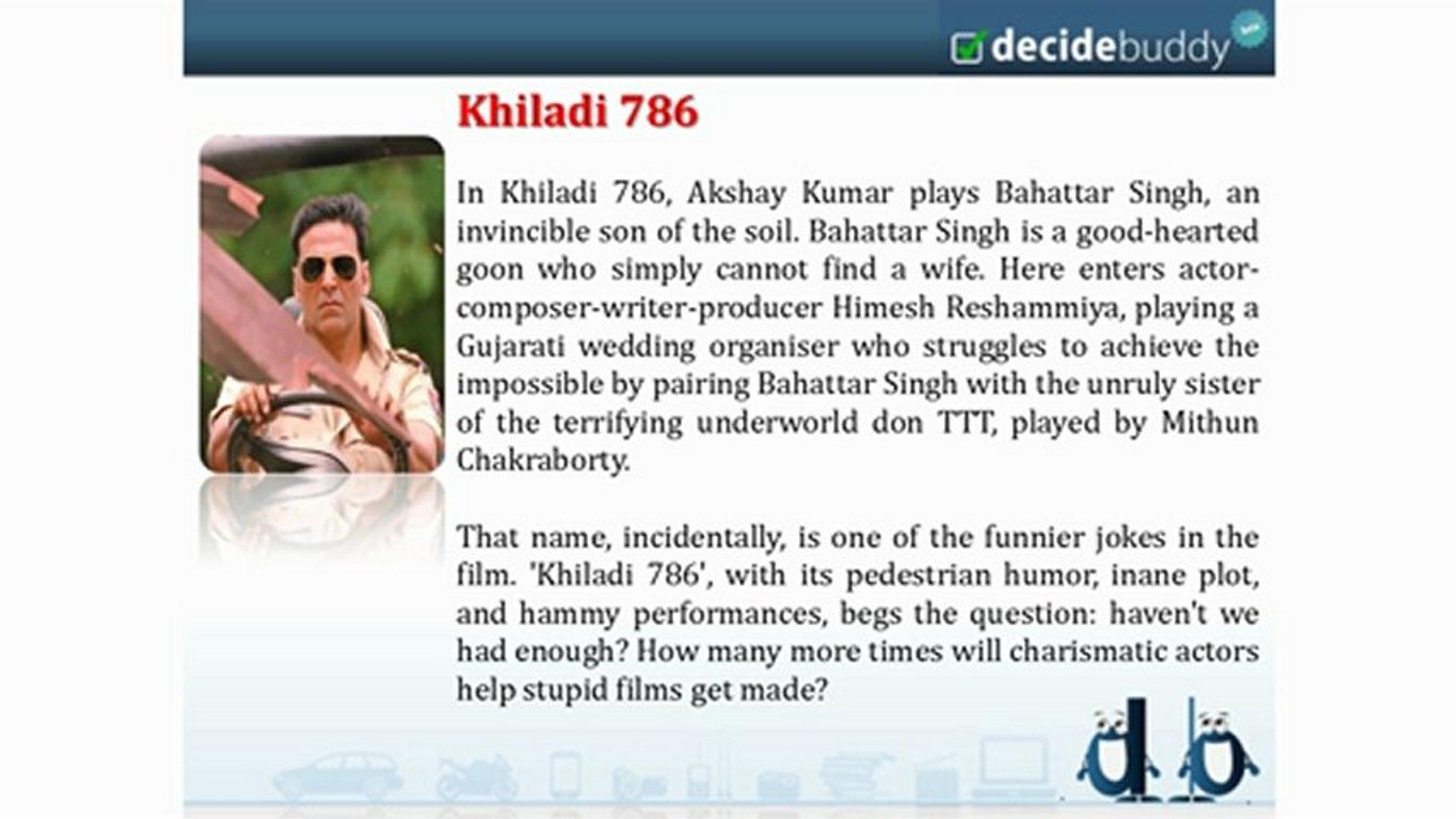 Khiladi 786 Bollywood Movie Reviews At Decidebuddy Com