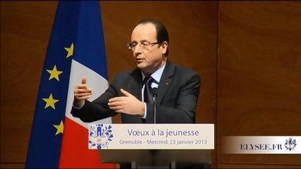 Discours de François Hollande sur le Service Civique - Voeux à la Jeunesse - 23 janvier 2013