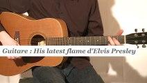 Cours guitare : jouer His latest flame d'Elvis Presley à la guitare - HD