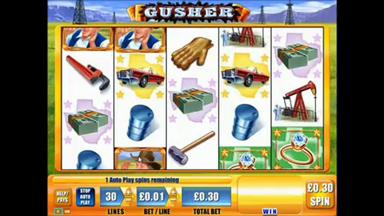 gusher slot machine game