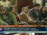 Villegas reitera derecho a la intimidad de Hugo Chávez