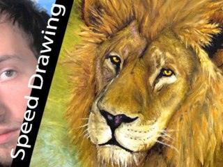 Wow! LION Speed Painting with REAL OIL COLOUR! 10 hours TIMELAPSE by Gianmaria Anderle