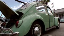Classic VW BuGs Pt.1 South Miami 2013 VolksBlast Vintage Beetle Bus Ghia Air-Cooled Car Show