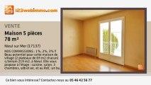 A vendre - maison - Nieul sur Mer (17137) - 5 pièces - 78m