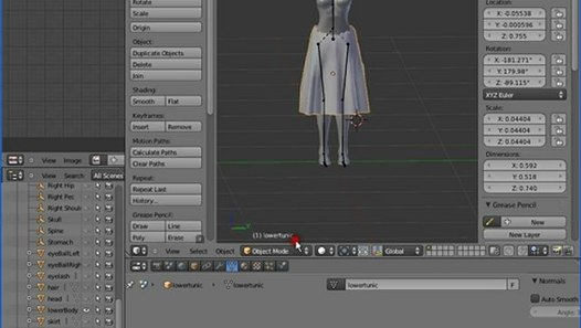 Blender - Second Life Basics, with Mesh, UV Templates and