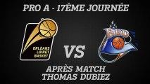 Réactions de Thomas Dubiez - J17 - Réception de Boulazac