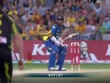 Kushal Perera smacks a six down the ground, Sydney, 2013