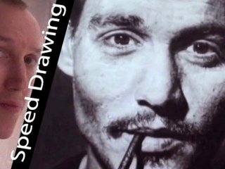 Johnny Depp! SPEED DRAWING TRIBUTE! Amazing portrait of a Hollywood Star by Derek Twilt