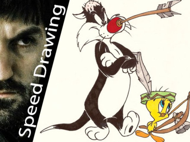 Wow! Sylvester and Tweety! THE BEST TRIBUTE by Speed Drawing Italia