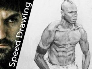 Mario Balotelli - ritratto del campione by Speed Drawing Italia