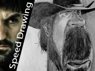 Chuck Norris CARICATURE - amazing speed drawing