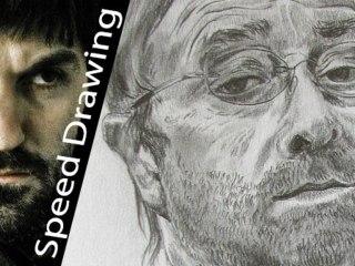 Lucio Dalla! Ritratto TRIBUTO del cantante italiano! Speed drawing with pencil!