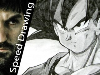 Best GOKU sketch! Amazing speed drawing from Dragonball series!