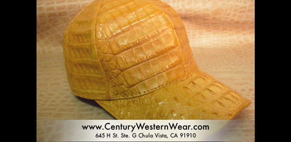 San Diego Leather Hats | Ostrich, Crocodile Ball Caps