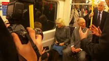 Prince Charles and the Duchess of Cornwall take the Tube