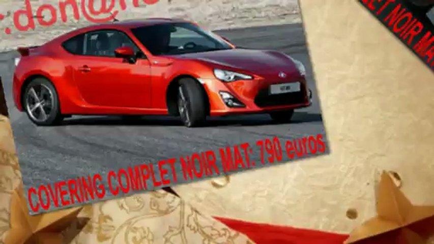 Toyota GT86, Toyota GT86, covering Toyota GT86, Toyota GT86 noir mat, Toyota GT86 peinture noir mat