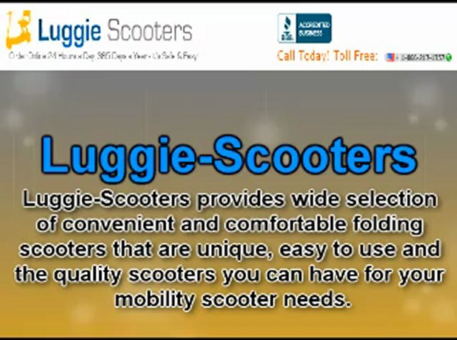 Quality Folding Scooters From Luggie-Scooters