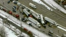 Slick roads cause multiple pile ups in U.S. Midwest