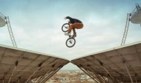 BMX Session on Satellite Dishes - Red Bull Riding over Space Radar