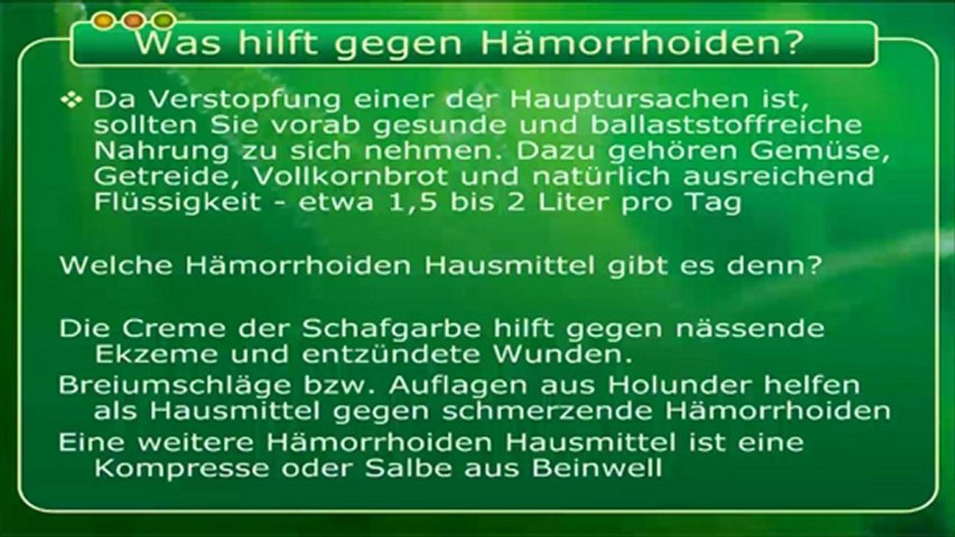 hausmittel gegen analthrombose
