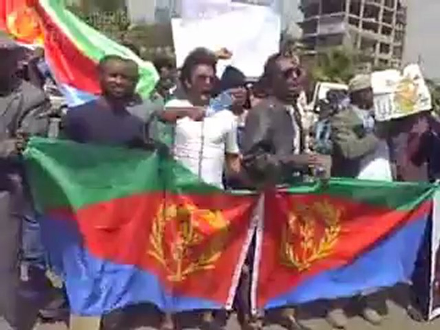 Eritreans in Addis Ababa protest against their government