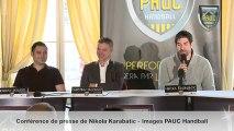 Conférence de presse de Nikola Karabatic (Aix Handball)