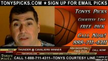 Cleveland Cavaliers versus Oklahoma City Thunder Pick Prediction NBA Pro Basketball Odds Preview 2-2-2013