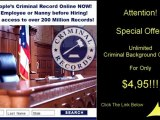 Check Criminal Background  Records For Almost Free