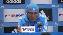 Conférence de presse Olympique de Marseille - AS Nancy-Lorraine : Elie BAUP (OM) - Patrick GABRIEL (ASNL) - saison 2012/2013