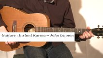 Cours guitare : jouer Instant karma de John Lennon à la guitare - HD