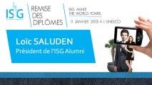 Remise des diplômes ISG promo 2012 - Discours de Loïc Saluden