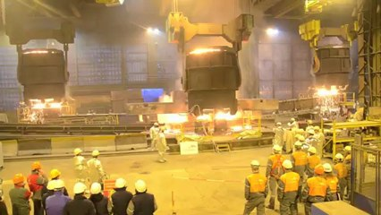 ARCELORMITTAL COULEE 4 POCHES POUR AREVA