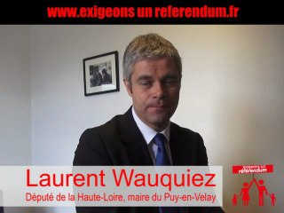 "Laurent Wauquiez ""mariage et adoption homos : exigeons un referendum"""