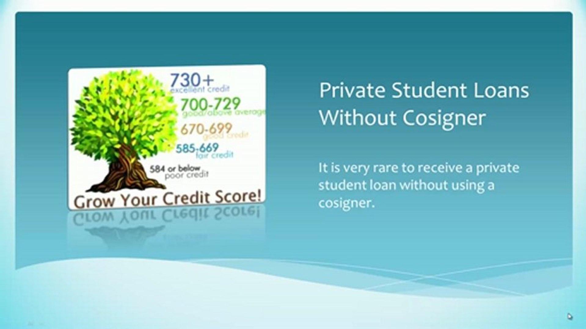 Private Student Loans >> Private Student Loans Without A Cosigner