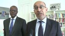 Rencontre entre Harlem Désir et Ousmane Tanor Dieng, secrétaire général du PS sénégalais