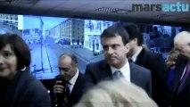 Manuel Valls visite le centre de supervision urbaine de Marseille