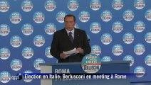 Elections en Italie: Berlusconi galvanise ses troupes à Rome