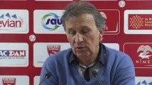 Conférence de presse Nîmes Olympique - Stade Lavallois : Victor ZVUNKA (NIMES) - Philippe  HINSCHBERGER (LAVAL) - saison 2012/2013