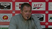 Conférence de presse AC Ajaccio - Girondins de Bordeaux : Albert EMON (ACA) - Francis GILLOT (FCGB) - saison 2012/2013