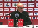 Conférence de presse Valenciennes FC - Stade Brestois 29 : Daniel  SANCHEZ (VAFC) - Landry CHAUVIN (SB29) - saison 2012/2013
