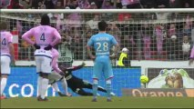 But Yannick SAGBO (58ème pen) - Evian TG FC - Olympique de Marseille (1-1) - saison 2012/2013