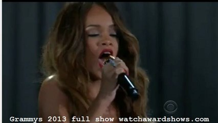 Rihanna performs Stay Grammys 2013